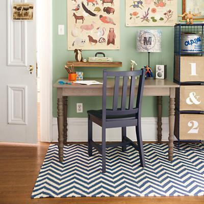 Parker Desk Chair (Midnight Blue)