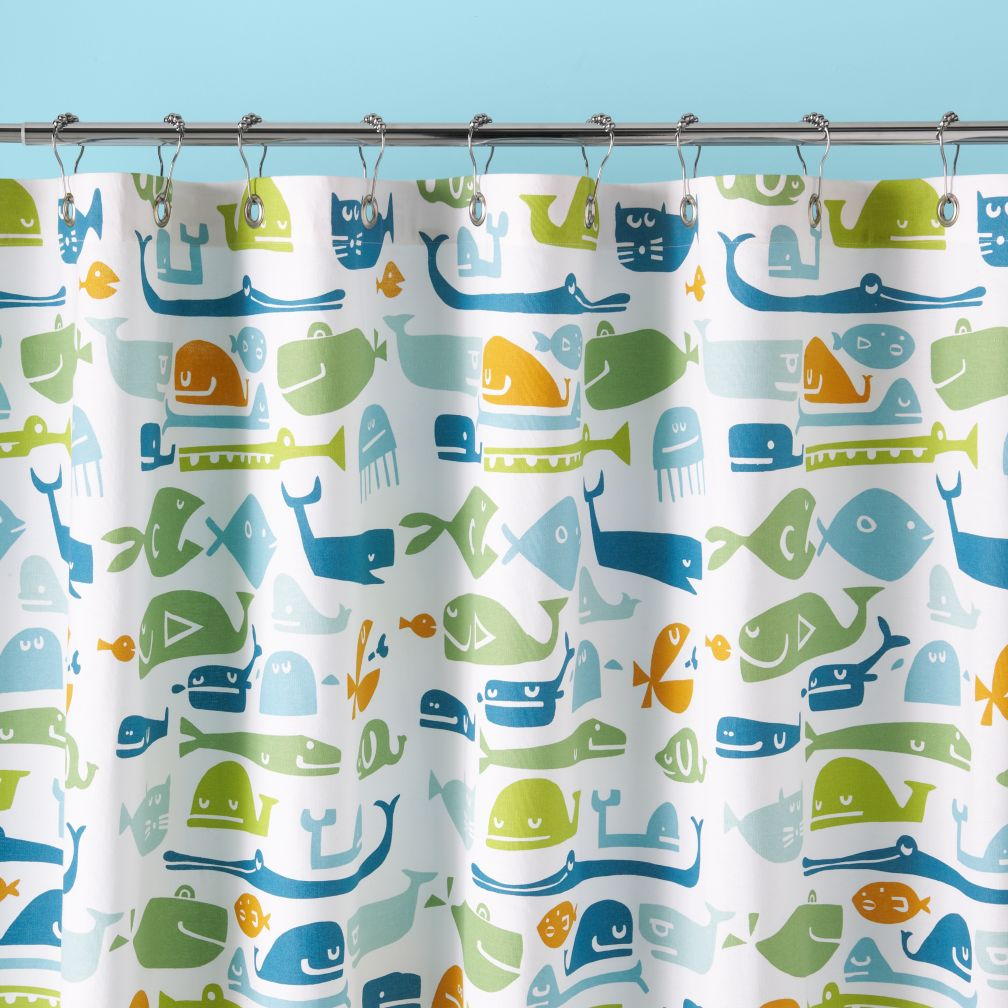 Fish Shower Curtains | Fish Fabric Shower Curtains - CafePress