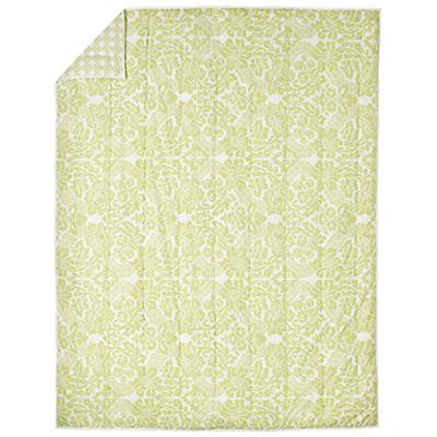 With a Flourish Green Comforter (Full-Queen)