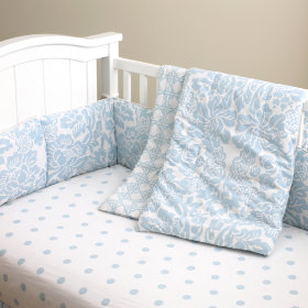 With a Flourish Crib Bedding (Blue)