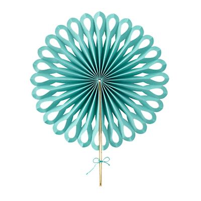 Large Die Cut Paper Fan (Aqua)