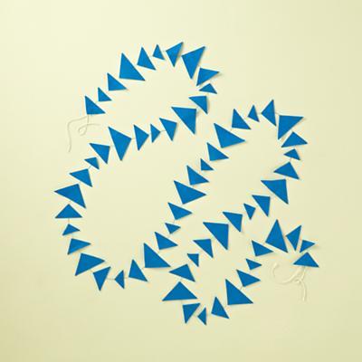Blue Triangle Garland