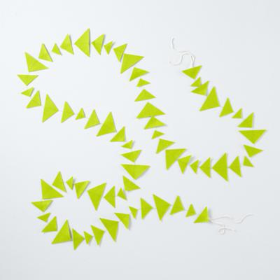 Lime Green Triangle Garland