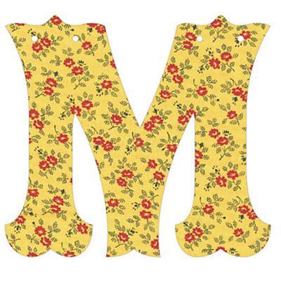 M Fancy Font Wallpaper Letter