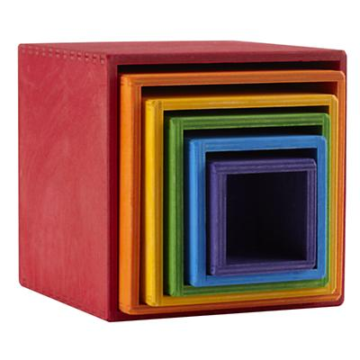Nesting Squares Rainbow Stacker
