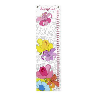 Personalized Barcelona Flower Growth Chart