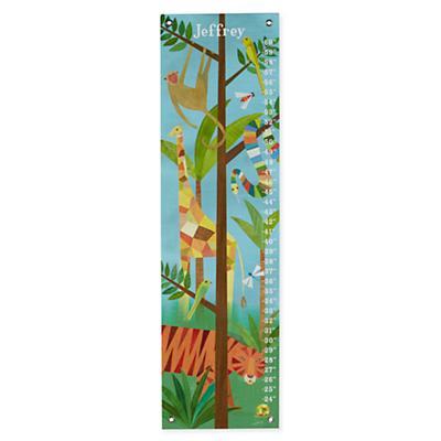 Personalized Jungle Animals Growth Chart