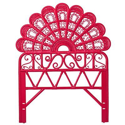 Twin Princess Plume Headboard (Hot Pink)