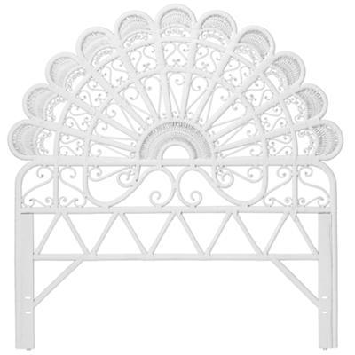 Full Princess Plume Headboard (White)