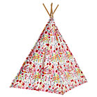 Pink Floral Canvas Teepee