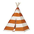 Orange Stripe Canvas Teepee