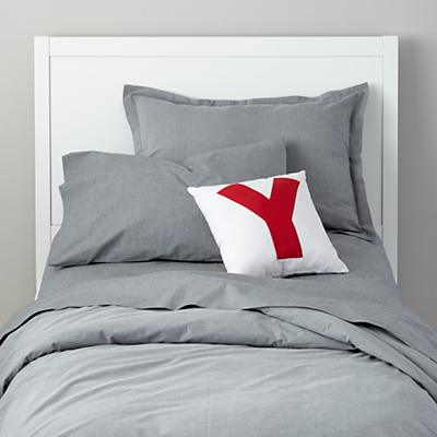 My Grey Chambray Duvet Cover