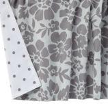 Dream Girl Reversible Crib Skirt (Grey)