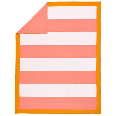 Floral Gem Stripe Duvet Cover (Twin)