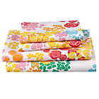 Full Floral Gem Sheet SetIncludes fitted sheet, flat sheet and two pillowcases