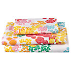 Twin Floral Gem Sheet SetIncludes fitted sheet, flat sheet and one pillowcase