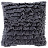 Grey Velvet Throw Pillow Set