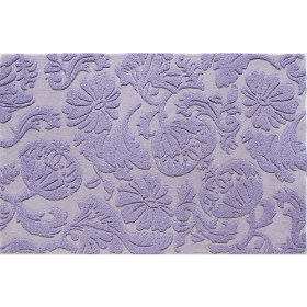 Raised Floral Rug (Lavender)