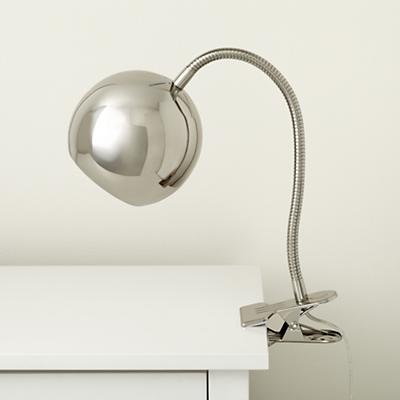 Silver Modern Clip Lamp