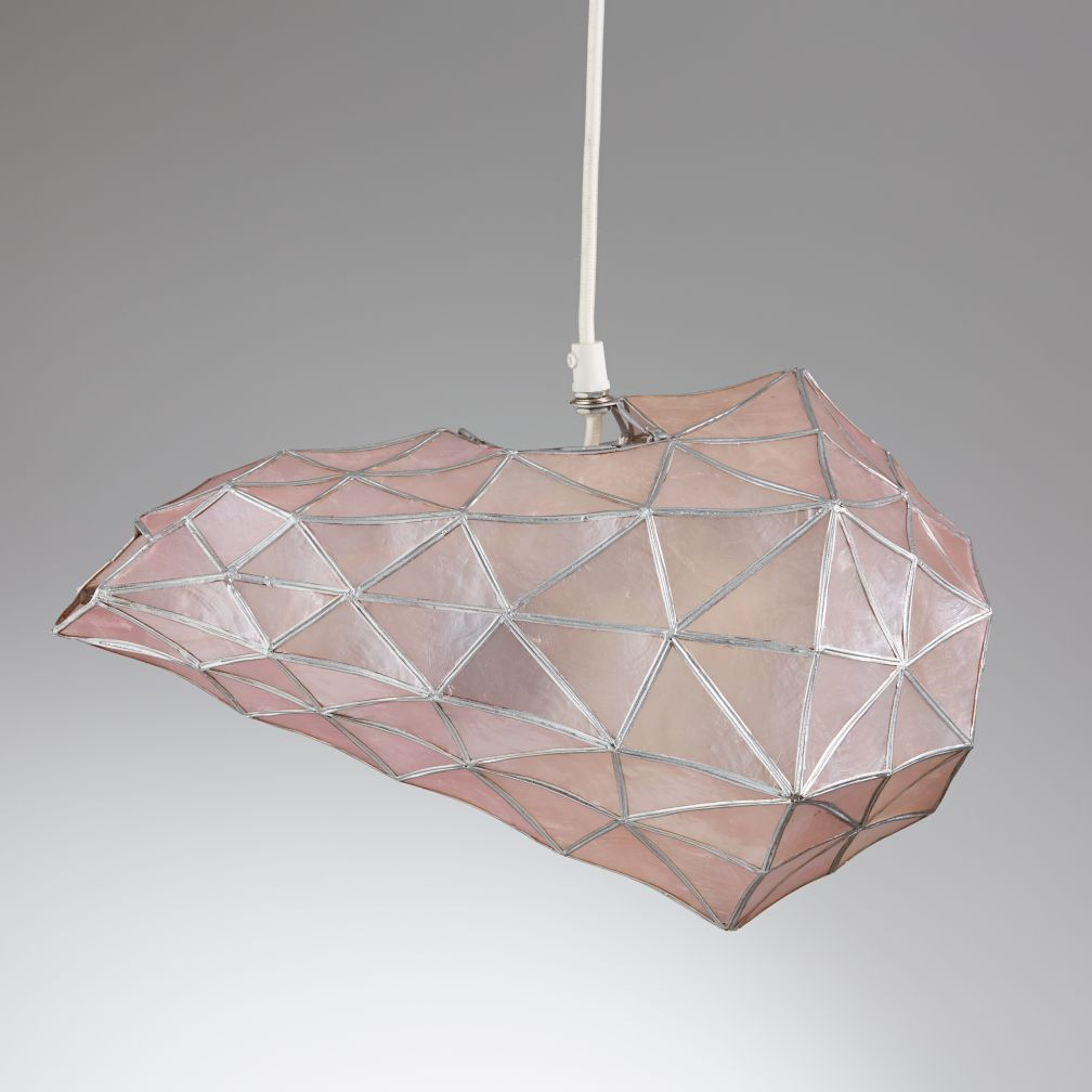 Faceted Pendant (Pink)