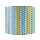 Gingham Printed Table Lamp Shade.
