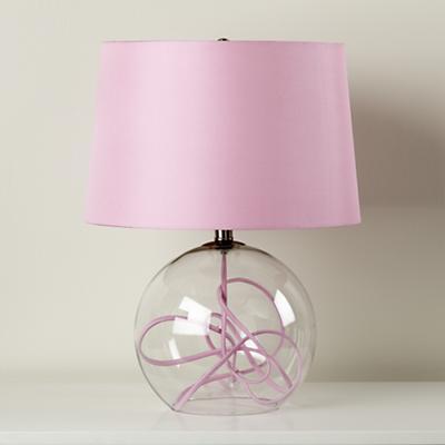 Crystal Ball Table Lamp (Pink)