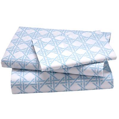 Blue Lattice Sheet Set (Twin)