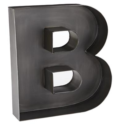B Magnificent Metal Letter