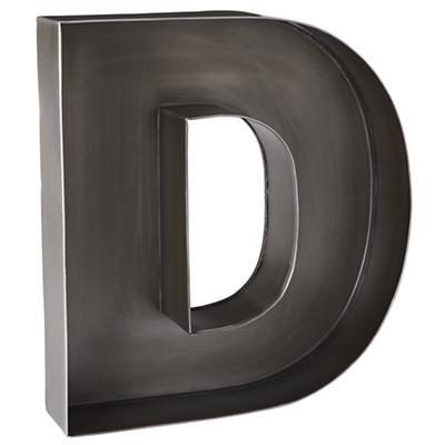 D Magnificent Metal Letter