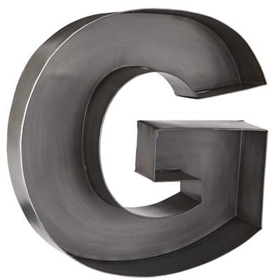 G Magnificent Metal Letter
