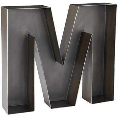 M Magnificent Metal Letter