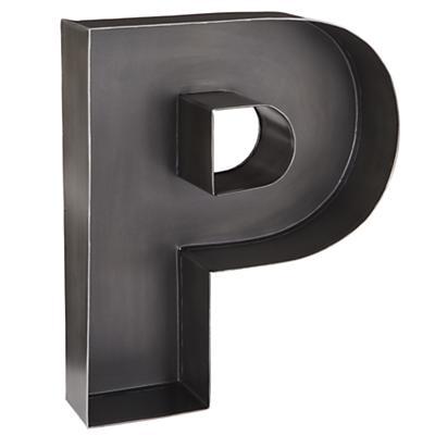 P Magnificent Metal Letter