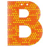'B' Perfect Pattern Boy Letter