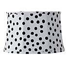 White/Black Spots and Dots Table Shade