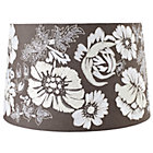 Grey Floral Full Bloom Floor Shade