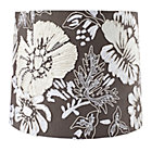 Grey Floral Full Bloom Table Shade