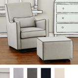 Luca Glider & Ottoman (Leather Piping)