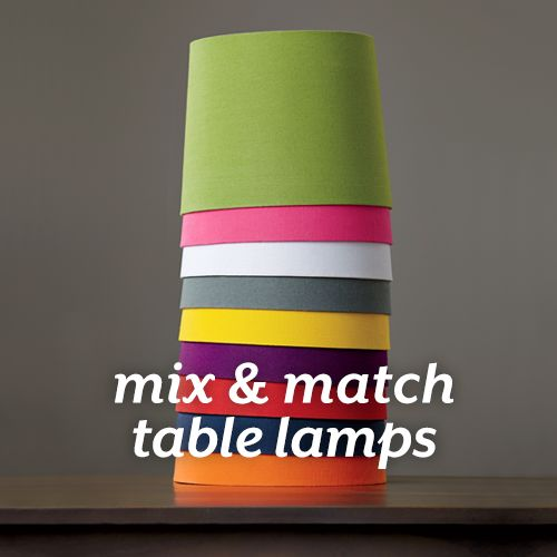 Mix and Match Table Lamps