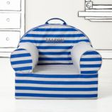 Executive Personalized Nod Chair Cover (Blue Rugby Stripe)