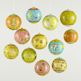 Michael Mabry Twelve Days of Christmas Ornaments (set of 12)