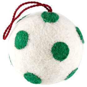 No Hard Feelings Ornaments (Green and White)