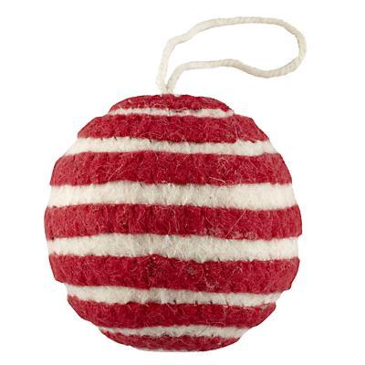 Bright Stripes Ornament (Red)