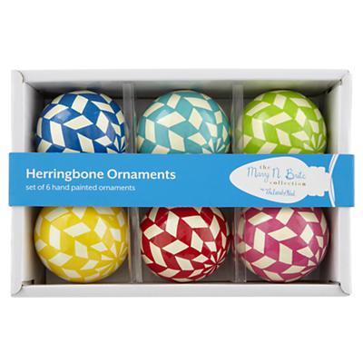 Herringbone Ornaments (Set of 6)
