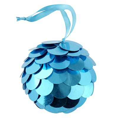Blue Sequin Ornament
