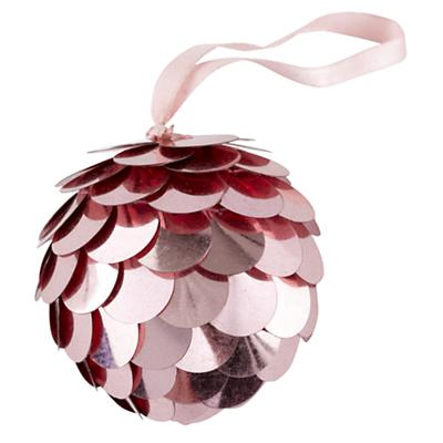 Lt. Pink Sequin Ornament