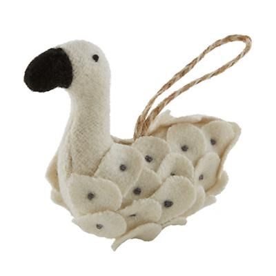 Winterland Plush Animal Ornament (Swan)