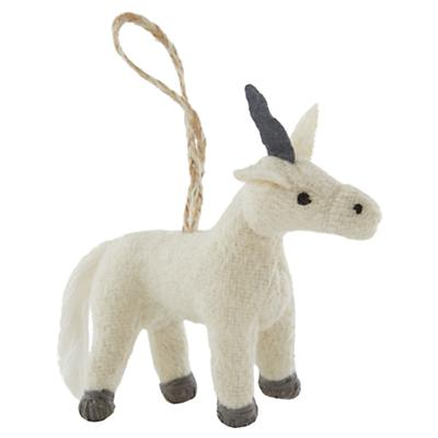 Winterland Plush Animal Ornament (Unicorn)
