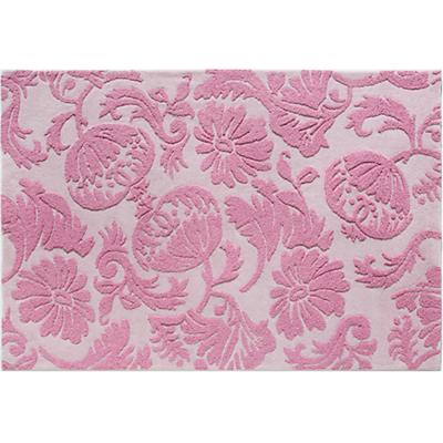 5 x 8' Raised Floral Rug (Pink)