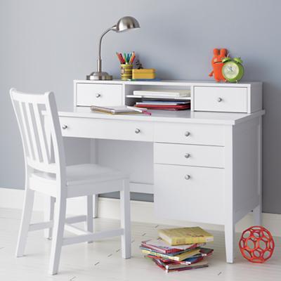 Parker Desk Chair (White)