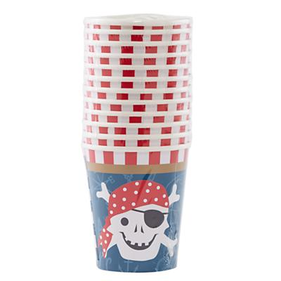 Ahoy Pirate Party Cups (Set of 12)